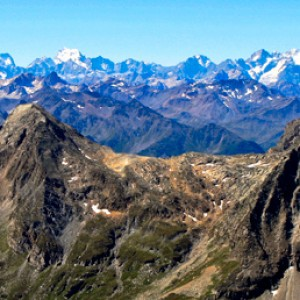 View on the Massif des Ecrins