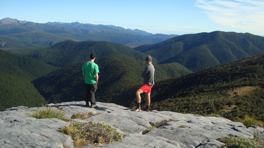 Brian and Dom overlook the valleys.