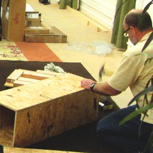 Mike Kramer builds gallery walls.