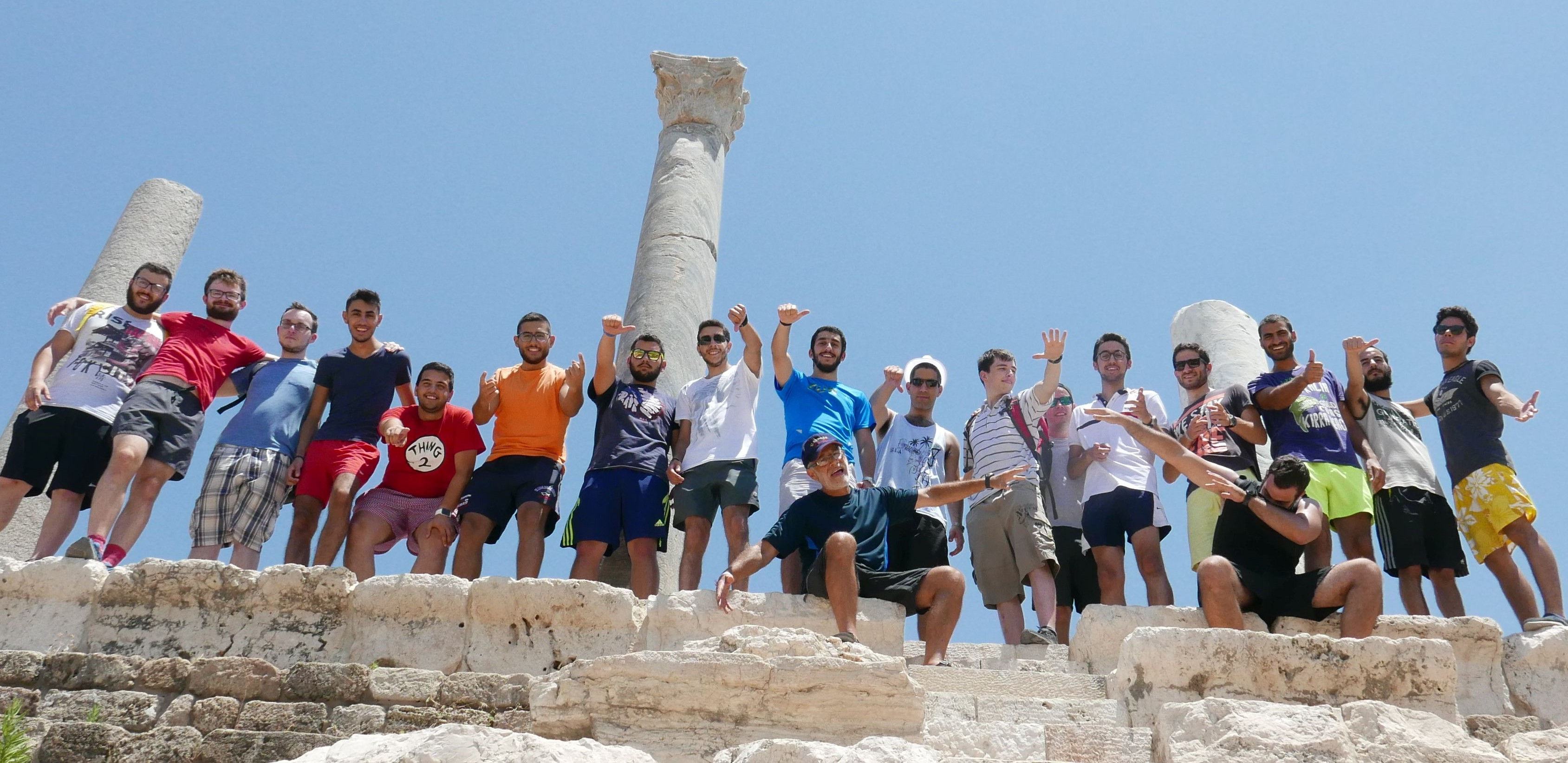 "Many of the ""Men on Mission"" participants on an outing to Tyre."