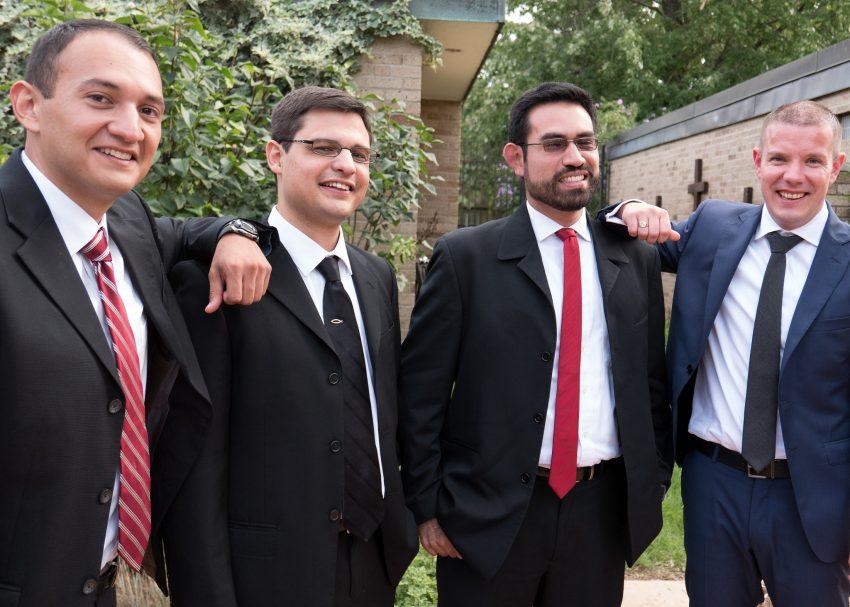 The new brothers: Malaquias, Miguel, Rodrigo, and Tadhg.